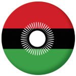 Malawi 2010-2010 Country Flag 25mm Flat Back.